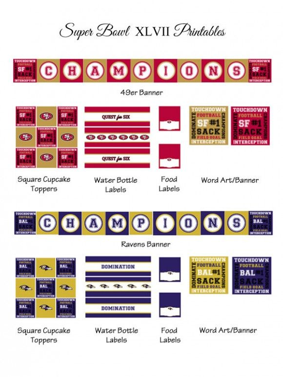 Free Super Bowl party printables! #superbowl #partyFree Super, Bowls Parties, 2013 Printables, Superbowl Printables, Super Bowls, Superbowl Parties, Superbowl 2013, Parties Printables, Free Printables