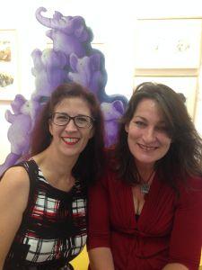 Gwynneth Jones - Illustrator (right) with Susan Whelan
