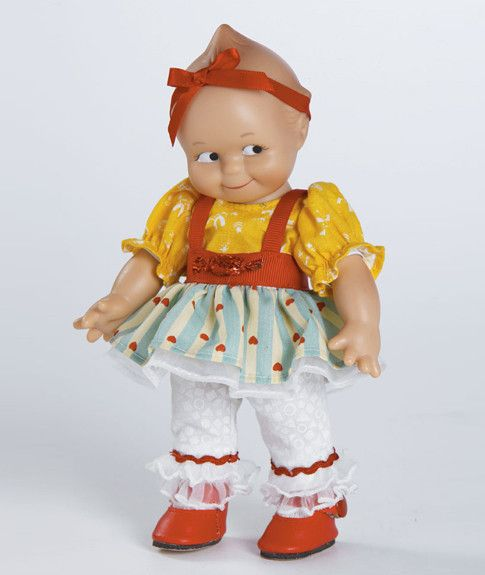 Salt Water Taffy Kewpie Doll 8 inches tall Vinyl Kewpie Doll Kewpie® dolls are created with the same love, quality and attention to detail as the first Kewpie® dolls were in 1913. The doll that you wi
