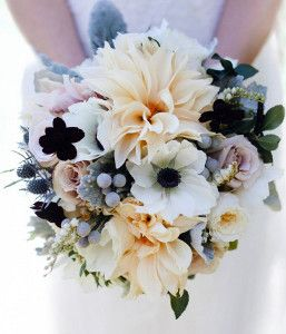 Unexpected Black and White Wedding Bouquet for a daring monochromatic DIY wedding bouquet that no one will ever forget.