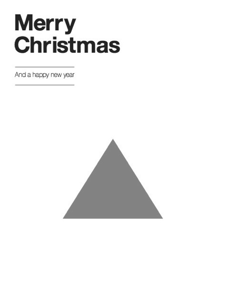 Merry Christmas – minimalistic graphic designed gift card in black and white | typography / graphic design: Matt Jones |
