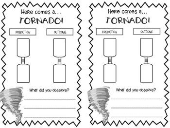 {Freebie} Tornado in a Bottle - Response Sheet!