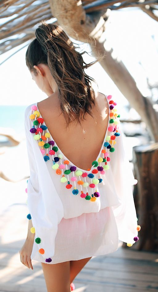 Pom pom cover up