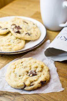 Perfekte vegane Chocolate Chunk Cookies