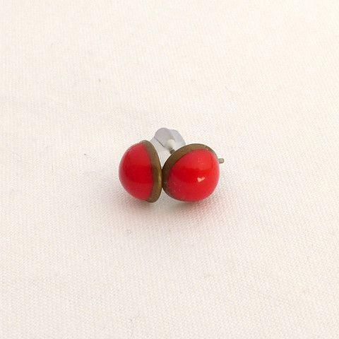 Little red vintage earrings