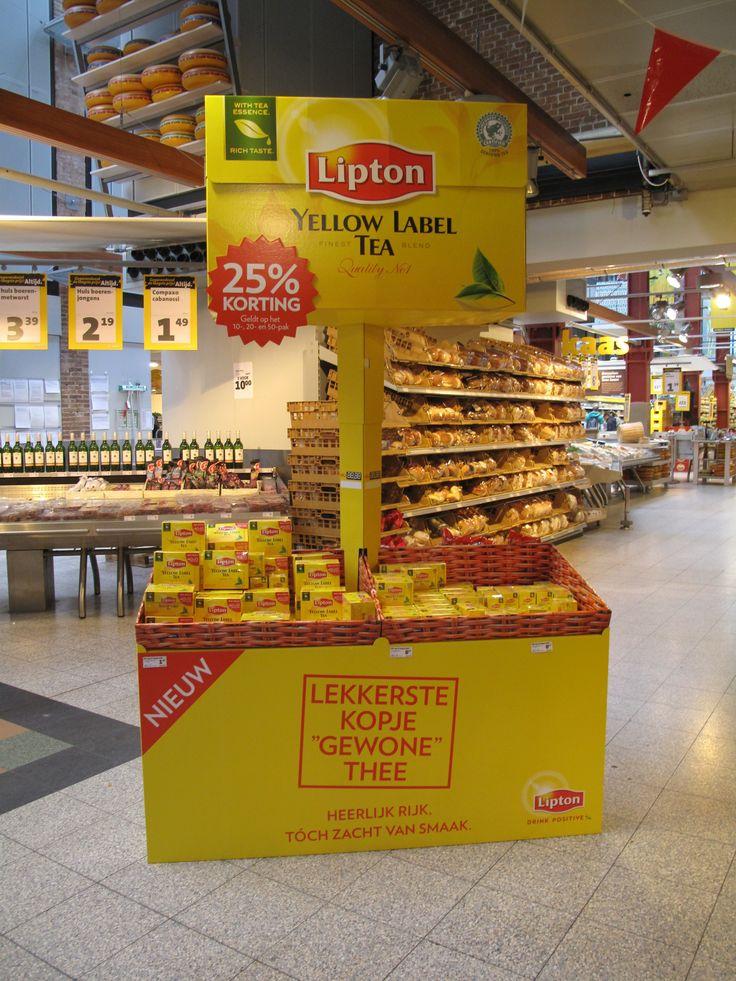 Lipton Yellow Label Tea activatie op de winkelvloer