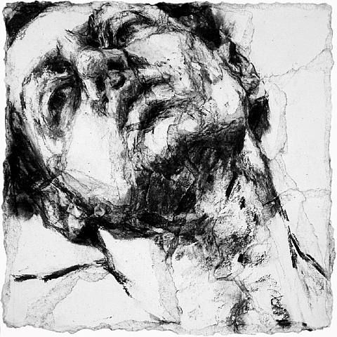 Alison Lambert, Head Study II charcoal and pastel on paper