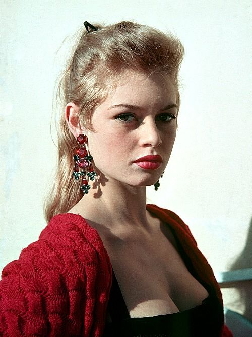 Brigitte Bardot in a publicity still in the 1950s.