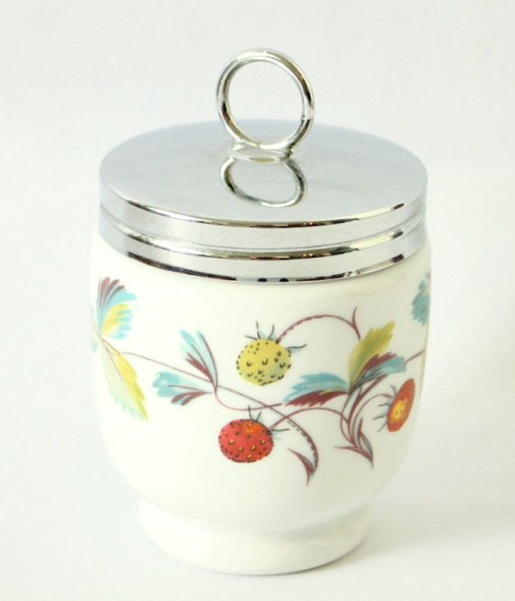 King Size Egg Coddler Royal Worcester In The Strawberry Fair Pattern. Never used. Exquisite!