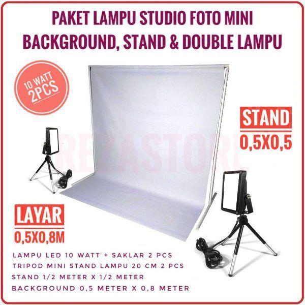 Jual Lampu Studio Foto Paket 10 Watt Lengkap Stand Background Mini Tripod Murah Lighting Foto Produk By Rezastore Di Lapak Reza Store Eas Lampu Produk Studio Foto