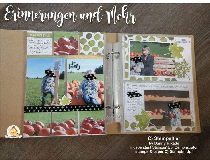stampin up Memories and more Erinnerungen und mehr festhalten beim scrapbooking fotoalbum fotos aufbewahren kürbis