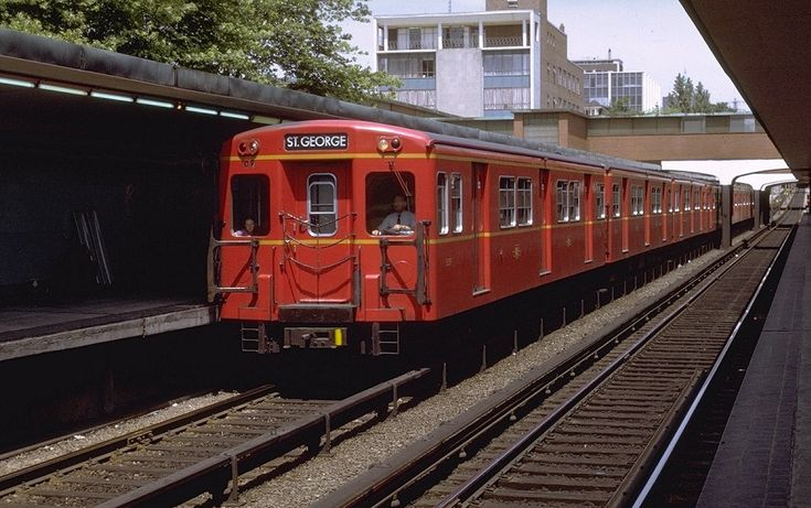 TTC Subway at Davisville Station, 1969, Toronto.