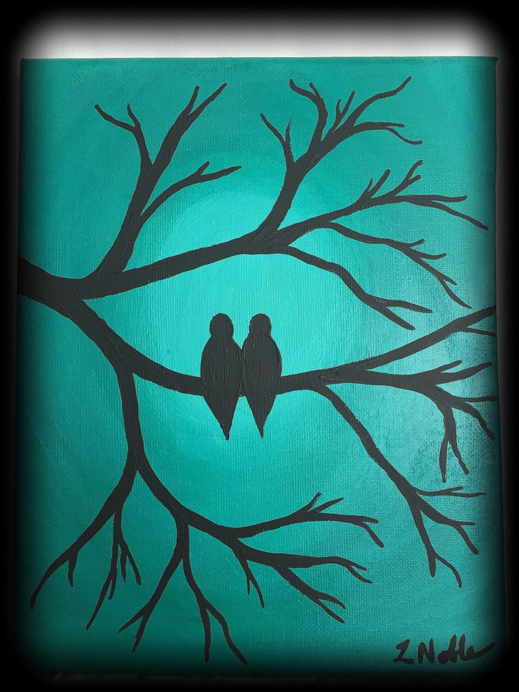 A personal favorite from my Etsy shop https://www.etsy.com/ca/listing/253369987/original-8x10-lovebirds-in-a-tree