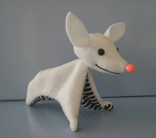 made to order Zero inspired by Nightmare Before Christmas, NBC ghost dog, adorable ornament, gothic, macabre, display, spooky, scary, horror by honeypotcreation on Etsy https://www.etsy.com/listing/456065010/made-to-order-zero-inspired-by-nightmare