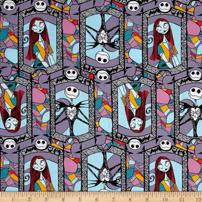 Disney Licenced Beauty /& the Beast Stained Glass cotton fabric *per fat quarter*