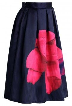 Rose of Sharon Printed A-line Skirt - Retro, Indie and Unique Fashion