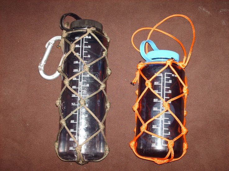 Paracord water bottle holders