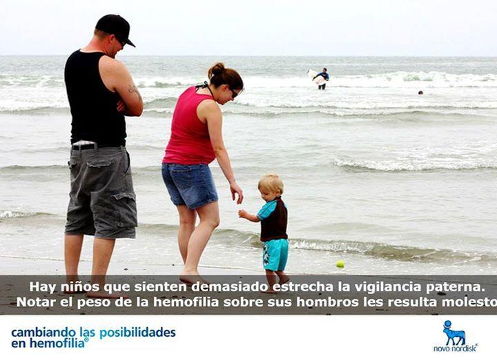 Hay niños que sienten demasiado estrecha la vigilancia paterna.   Notar el peso de la #hemofilia sobre sus hombros les resulta molesto