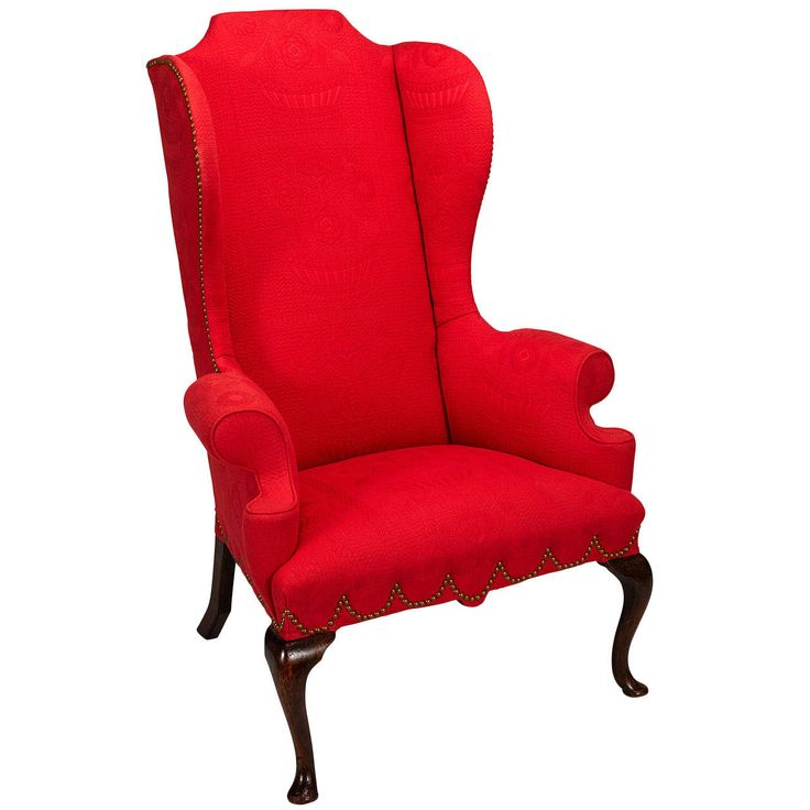 George II Style High Back Wing Chair | From a unique ...