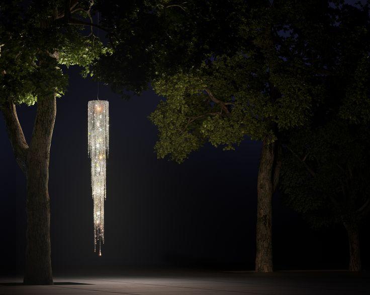 Fjord crystal chandelier #Manooi #Chandelier #CrystalChandelier #Design #Lighting #Fjord #luxury #furniture
