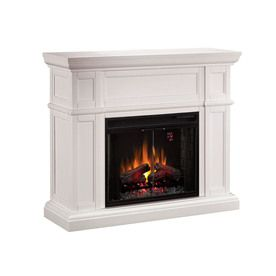 �52-in White Wall Fireplace Mantel from Lowes  $714.29