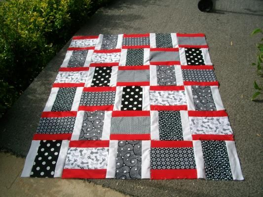 Simple yet attractive. Great for some quick lap quilts for charity