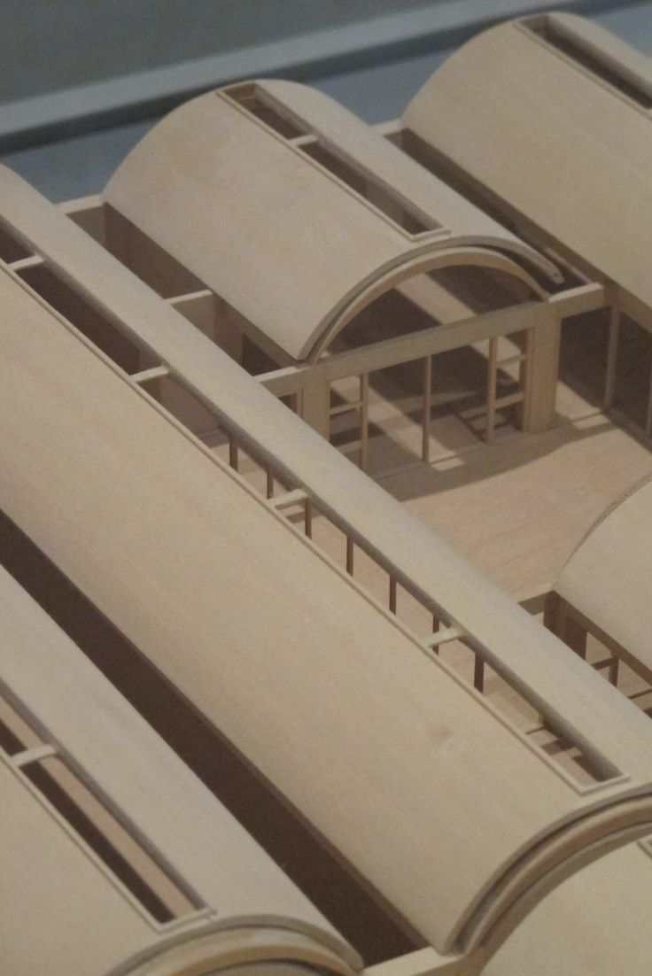 Louis Kahn, model detail: Kimbell Art Museum, Museum in Fort Worth, Texas.