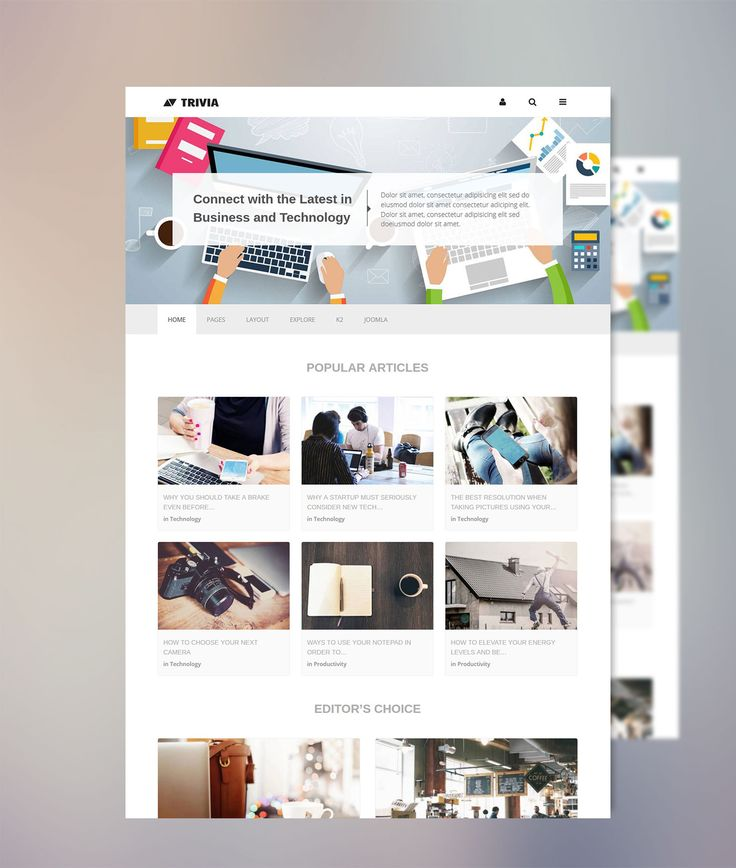 Check out our latest stunning Joomla Template! Trivia is a clean, modern and professionally designed responsive Joomla template suitable for portfolios, blogs and magazines. Just another awesome Joomla Theme from Minitek built with the T3 Framework and Bootstrap, featuring the innovative Minitek Wall Pro.