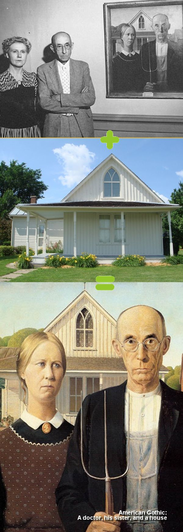American Gothic - A doctor and his sister and a house