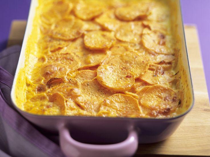 Süßkartoffelauflauf - smarter - Zeit: 25 Min. | eatsmarter.de Habt Ihr schon einmal ein Süßkartoffelgratin probiert? Nein? Solltet Ihr aber!