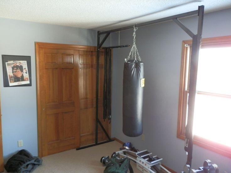 Idea for home made heavy bag stand Home gym Pinterest