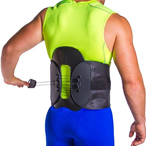 This brace for lumbar decompression and support can help with many sources of chronic low back pain such as bulging or herniated discs sciatica spondylolisthesis or a compression fracture of the s...