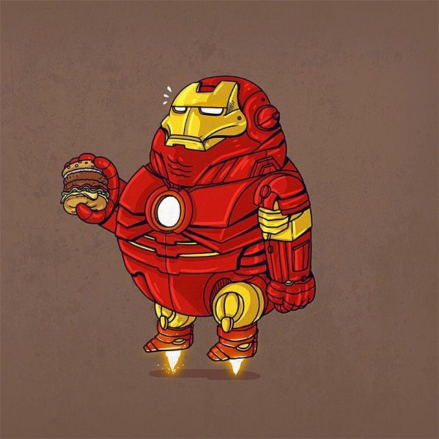 Fat Pop Culture Characters by Alex Solis | Inspiration Grid | Design Inspiration