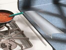 Superior Clear Countertop Protector | Kleen Seam Covers The Gap Between The Stove  And The Kitchen Counter
