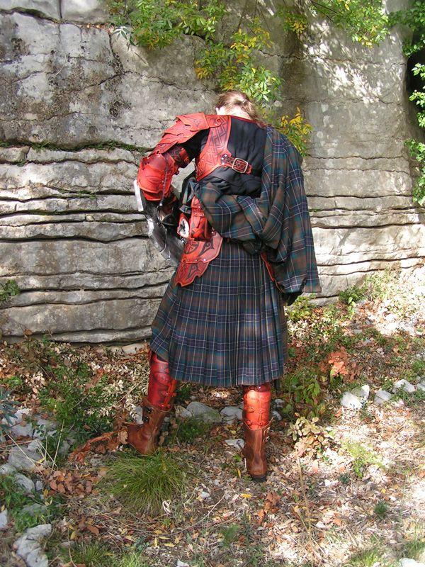 Kilt armor back view | Fantasy Novel research | Scotland ...