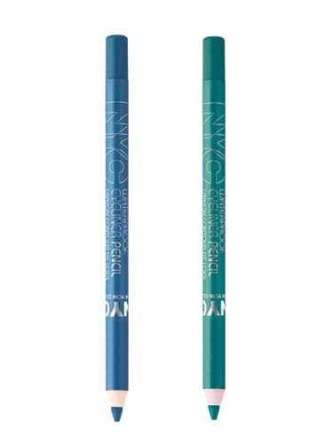 "#NYCNewYorkColor Waterproof Eyeliner Pencil in ""Teal"" and ""Sky High"" @Influenster  @NYC New York Color"