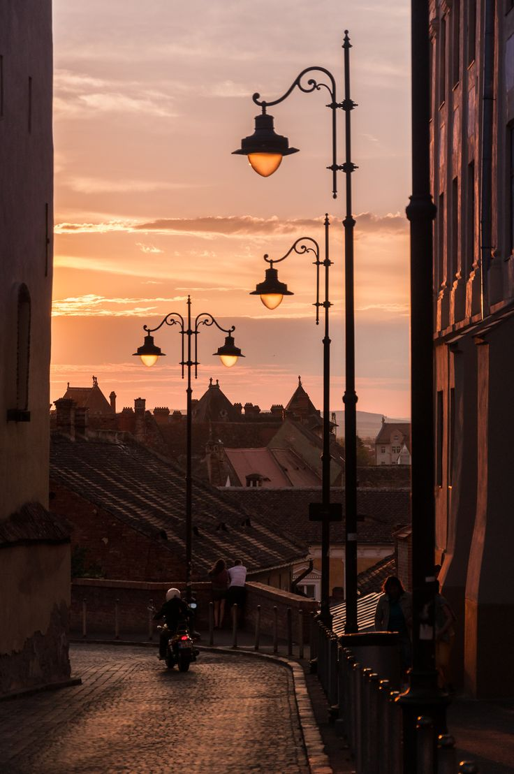 Sibiu at dusk by Marcel Ilie on 500px