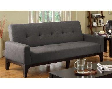 Futon Sofa Bed In Charcoal Sam Levitz Furniture E S