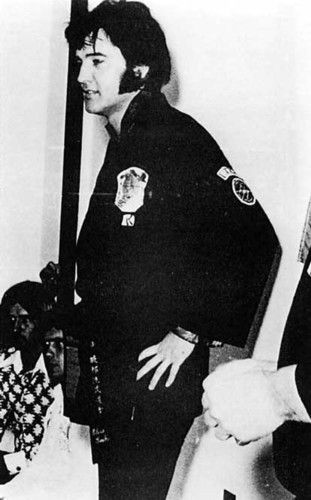 Elvis in his Kenpo Gi:  July 4, 1974