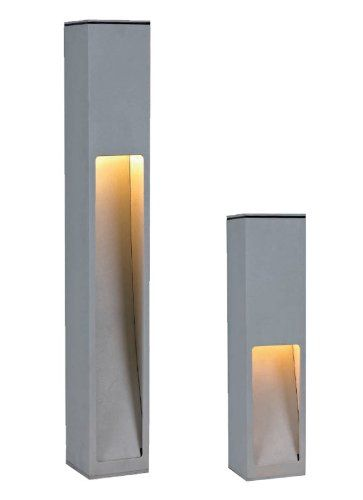 wegeleuchte gartenleuchte 45cm silbergrau eco stand 5 10273 beleuchtung au en pinterest. Black Bedroom Furniture Sets. Home Design Ideas
