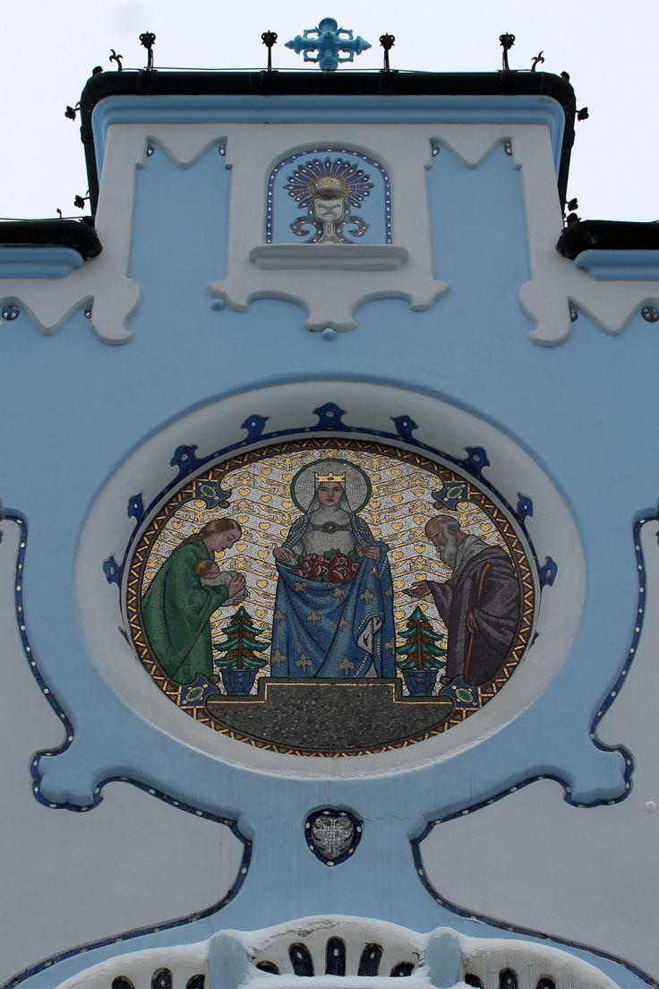 Bratislava's famous art-nouveau Blue Church (Modrý kostolík), the Church of Saint Elizabeth (Kostol svätej Alžbety).