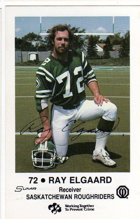 1983 Police Card Ray Elgaard Saskatchewan Roughriders Utah Utes | eBay