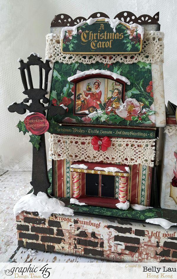 Christmas Village Mini Album Set - Graphic 45 - Christmas Carol - Belly - 2