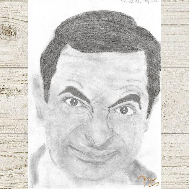 #art #drawing #drawingart #graphite #pencil #instaartist #mrbean #rowanatkinson