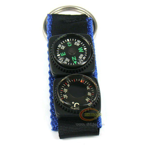 2013Hot selling ! Military Survival Kit Camping Hiking/Rock Climbing/Biking compass with thermometer $0.26~$0.58