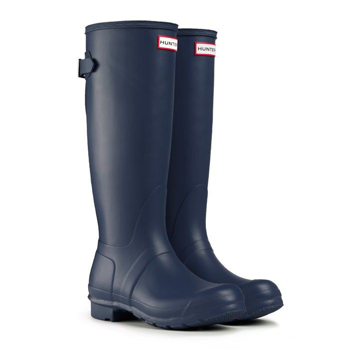 Original Back Adjustable - Navy | Hunter Boot (also the perfect boots for working with horses, just saying)