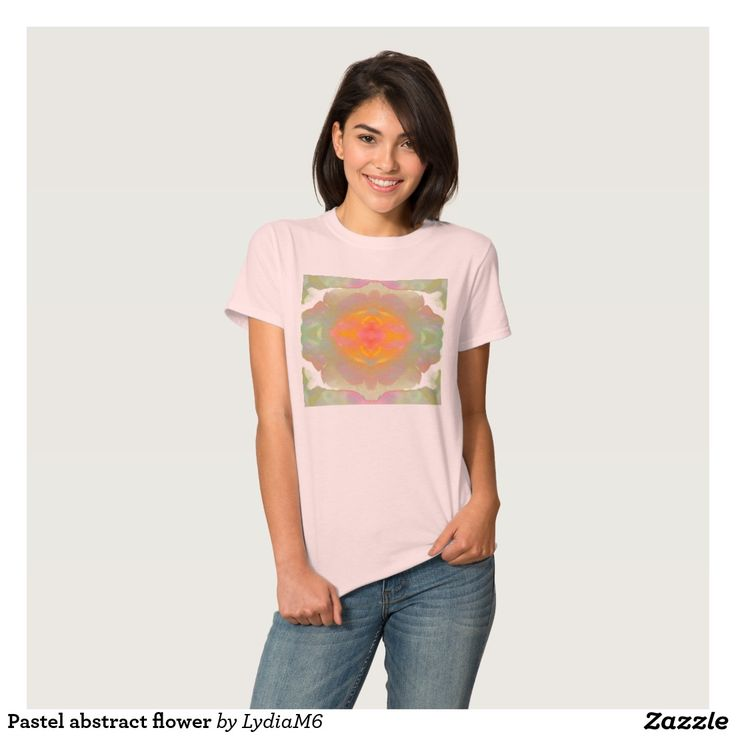 My new design on Zazzle! Pastel abstract flower shirt