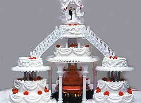 I'll need a wedding cake AT LEAST this big to feed all of my family! :-)