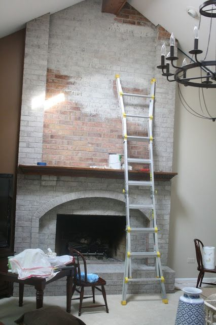 How to Whitewash Brick - keep this for a later reference :). Good tips about removing paint if you put too much on: