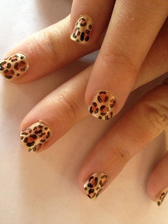 Leopard spotted nails that I did this afternoon. I'm going to pick up some grey and do snow leopard nails soon!: Leopard Nails, Snow Leopard, Nail Art